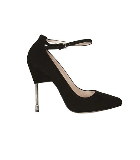 Topshop Giddy Metal Heel Court Shoe