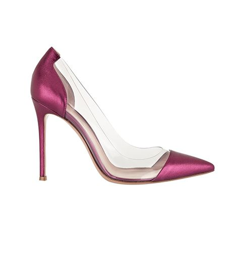 Gianvito Rossi Metallic Leather & PVC Pumps