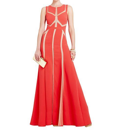 BCBG Imogen Tulle-insert Gown