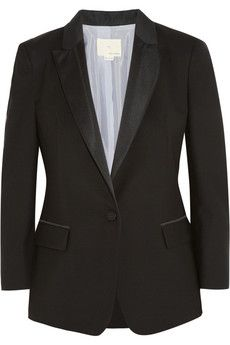 Band of Outsiders  Wool-Pique Tuxedo Jacket