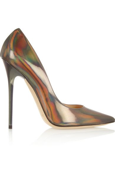 Jimmy Choo  Anouk Holographic Leather Pumps