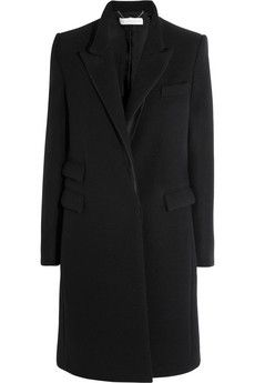 Stella McCartney  Alexandra Satin-Trimmed Wool Coat