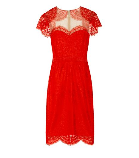 Notte By Marchesa  Shrug-effect lace dress