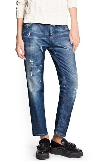 Mango Vintage Wash Boyfriend Jeans