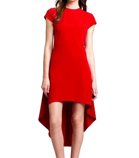 Nha Khanh Crepe Hi-Lo-Hem Dress