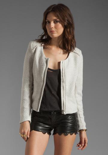 Bardot  Frayed Boucle Jacket