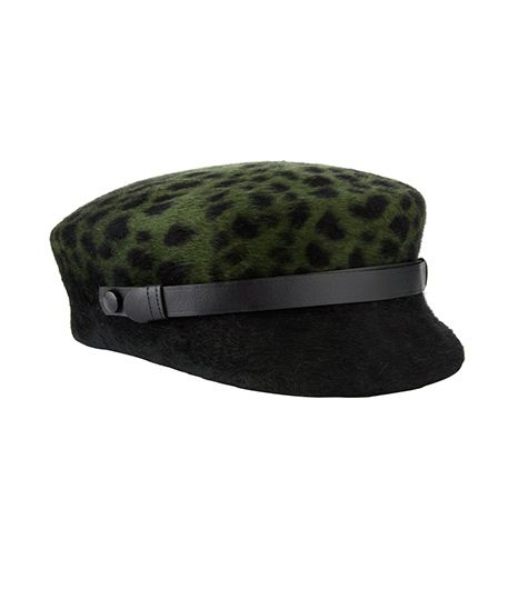 Laura Cathcart  Green Leopard Emerald Hat