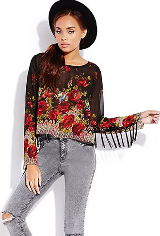 Forever 21  Enchanted Rose Top