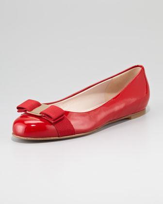 Salvatore Ferragamo  Varina Patent Ballerina Flats