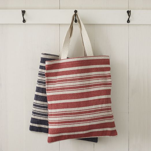 West Elm  Striped Tote Bags