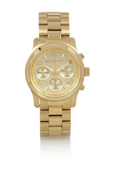 Michael Kors  Gold-Plated Steel Chronograph
