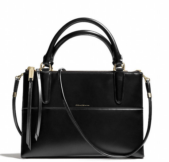 Coach The Mini Borough Bag In Polished Calfskin