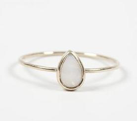 Catbird Jewelry Opal Teardrop Ring