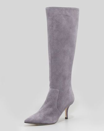 kate spade new york  Pointy Stretch Suede Knee Boot