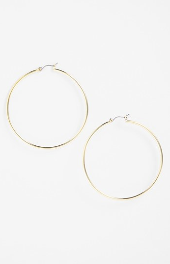 Lauren Ralph Lauren  Large Hoop Earrings