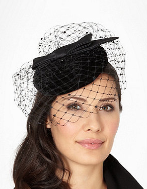Debenhams  Designer Black Velvet Fascinator