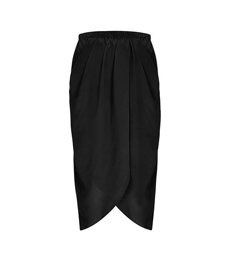 Topshop by Boutique  Silk Wrap Skirt