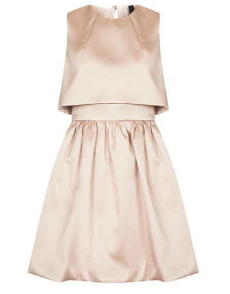 Topshop  Duchess Satin Skater Dress