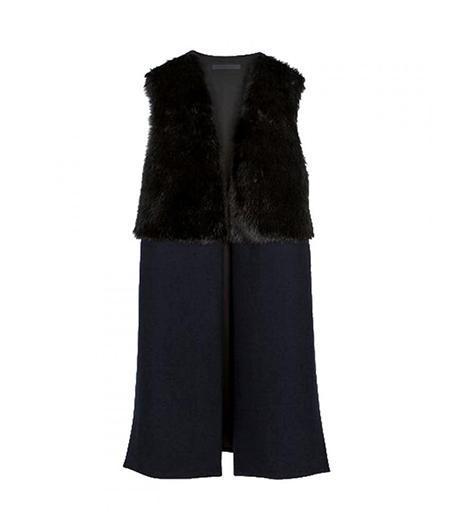 Choies Vintage Long Waistcoat Stitch Fur