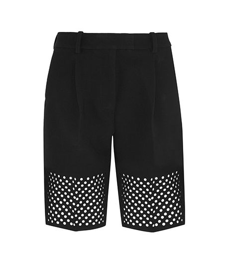 3.1 Phillip Lim Laser-Cut Crepe Shorts