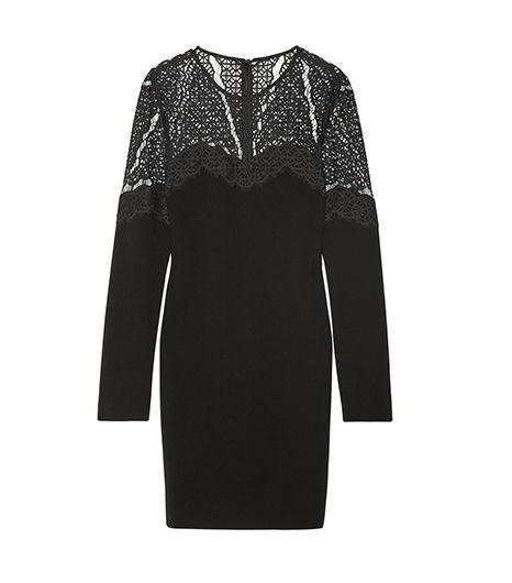 Diane Von Furstenberg Dahlia Stretch-Crepe And Lace Dress ($425)