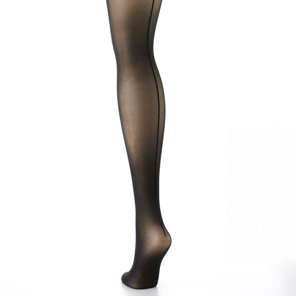 Hanes Silk Reflections Sheer Back Seam Tights