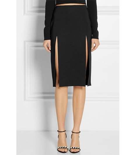 Versus Split Scuba-Jersey Skirt