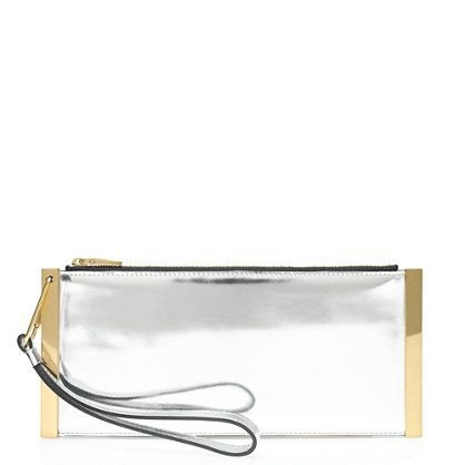 J.Crew  Mirror Metallic Bar Clutch