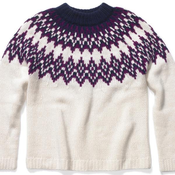 KULE Blake Cashmere Fair Isle Sweater