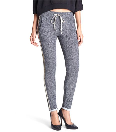 Fauborg du Temple Faux Leather Trim Tapered Track Pants