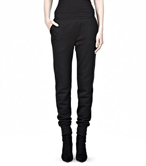 T by Alexander Wang Poly Rayon Fleece Sweatpants