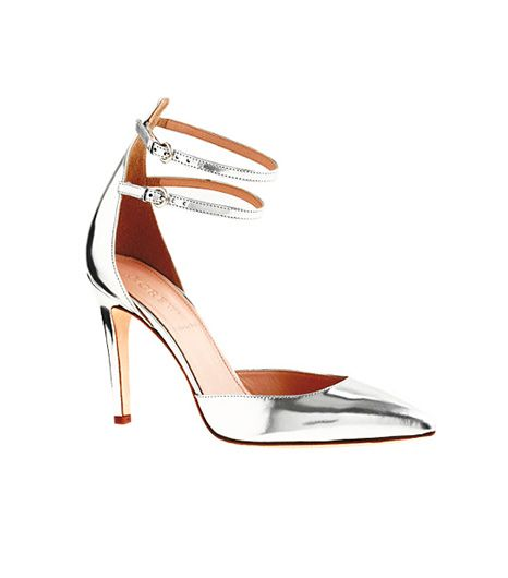 J.Crew  Strappy Mirror Metallic Pump
