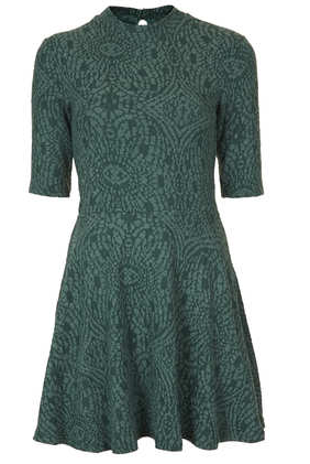 Topshop Textured High Neck Tunic