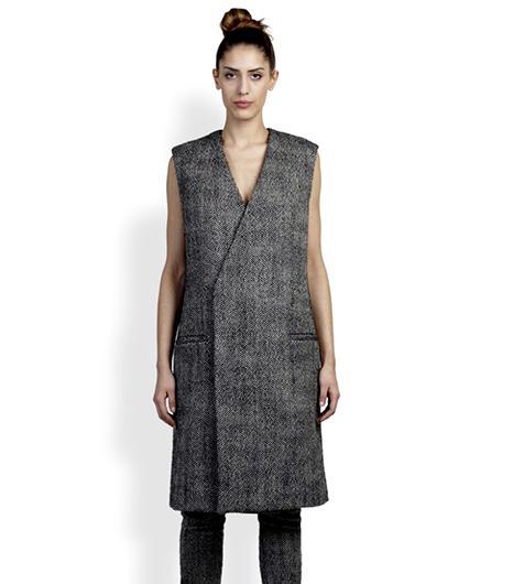 Haider Ackermann  Wool-Blend Herringbone Vest
