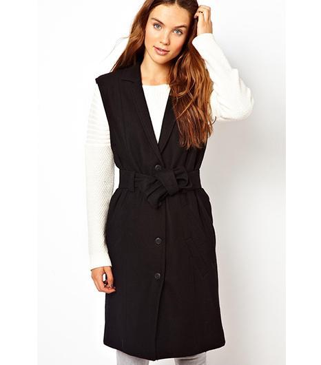 ASOS  Getuz Longline Vest With Tie Waist