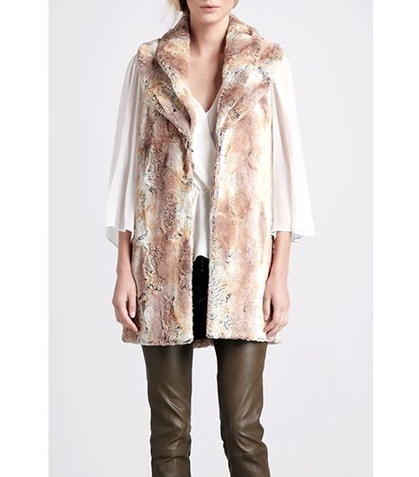 Alice + Olivia  Annistyn Long Faux-Fur Vest
