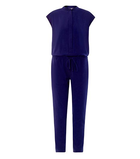 Vince  Collarless Twill Jumpsuit