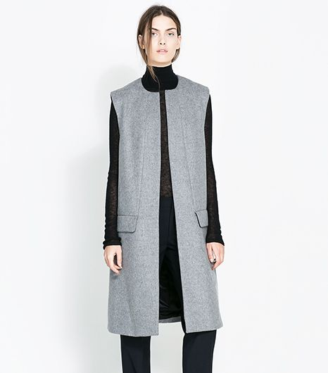 Zara  Studio Long Vest
