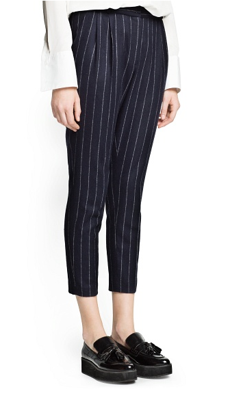Mango  Pinstripe Wool-Blend Suit Trousers