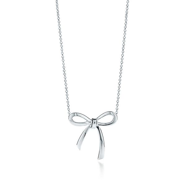 Tiffany & Co. Bow Pendant Necklace