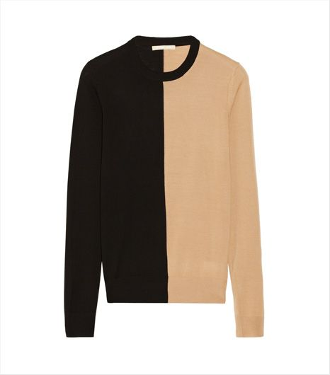 Michael Kors Two-Tone Merino Sweater