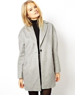 ASOS  Fluffy Cocoon Coat