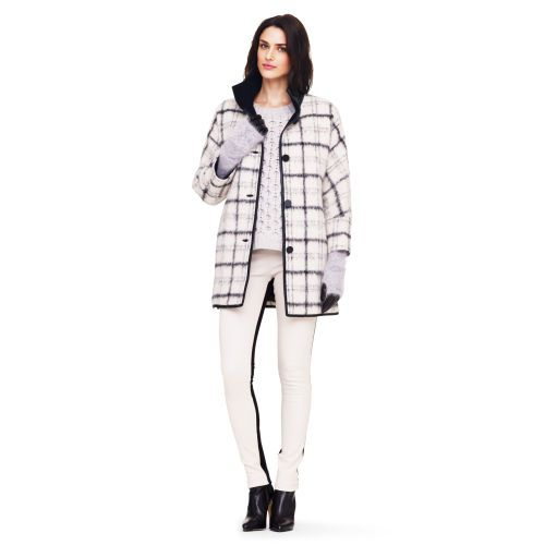 Club Monaco  Georgia Plaid Wool Coat
