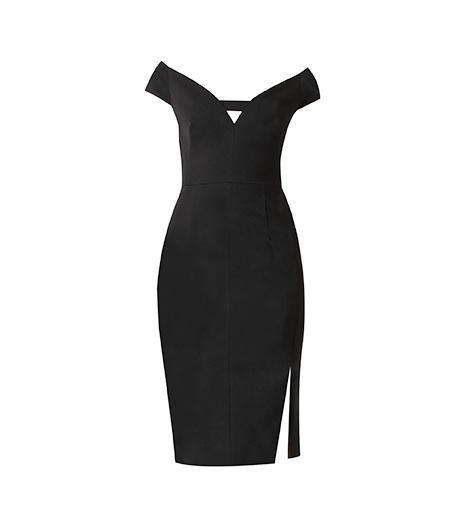 Black Halo Riya Off Shoulder Dress