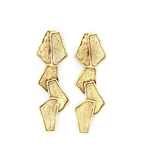 Oscar de la Renta Geometric Drop Earrings