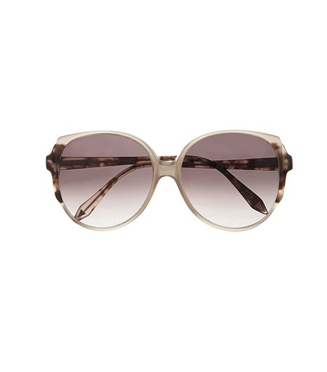 Victoria Beckham  Victoria Beckham D-Frame Mottled Acetate Sunglasses