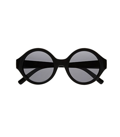 Le Specs  Le Specs The Dandy Round-Frame Acetate Sunglasses