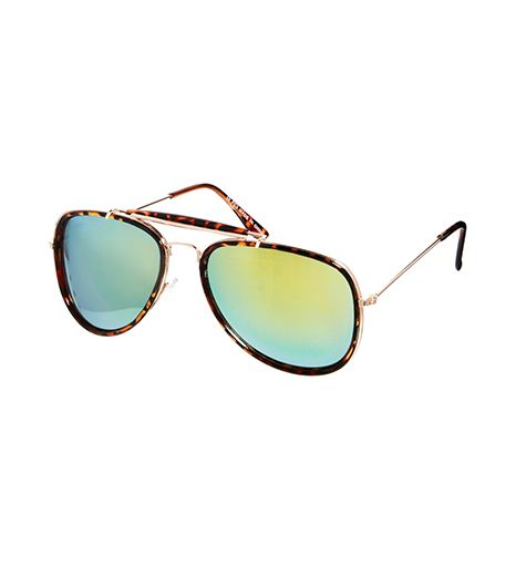 Asos  Asos High Bar Aviator Sunglasses with Mirrored Lenses