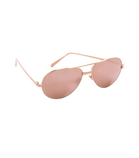 Linda Farrow Linda Farrow Luxe 24k Rose Gold Sunglasses
