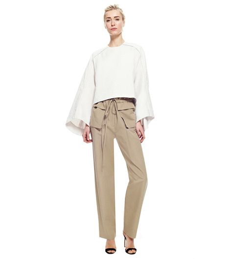 Rosie Assoulin  Rosie Assoulin Cotton and Linen Blend Pleated Cargo Pants